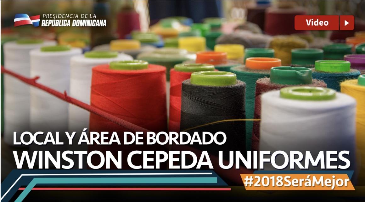 VIDEO: Local y área de bordado. Winston Cepeda uniformes #2018SeráMejor