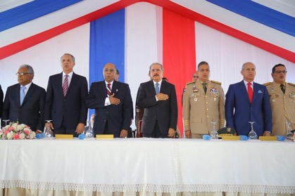 """Danilo Medina encabeza acto inaugural de la obra """"Padres de la Patria Honran la Bandera"""""""