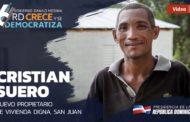 VIDEO: Cristian Suero. Nuevo propietario de vivienda digna, San Juan