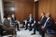 Danilo Medina sostiene encuentro con Adriano Espaillat, miembro Cámara de Representantes EE.UU.