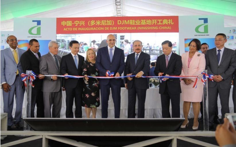 En Tamboril, Danilo Medina participa en inauguración fábrica de calzados de China Popular que generará 500 empleos