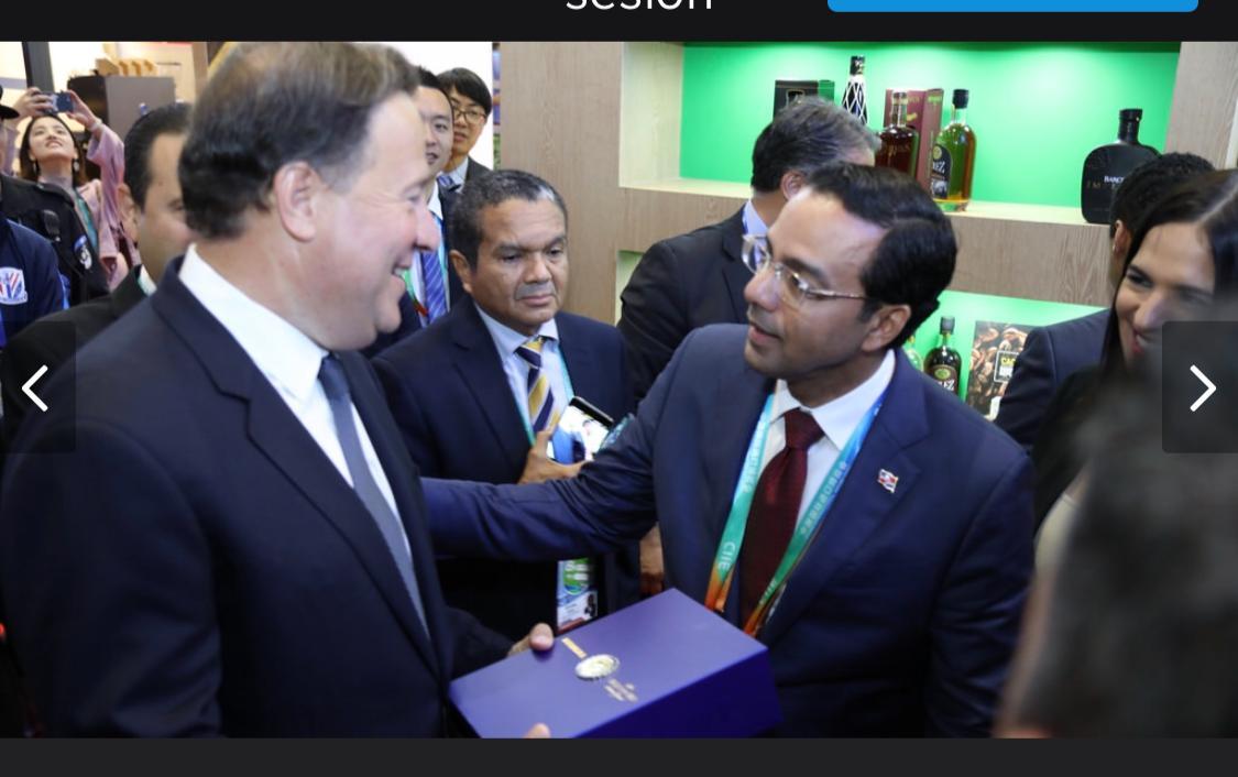 Presidente de Panamá visita stand RD en CIIE; valora como paso importante establecimiento relaciones diplomáticas con China