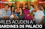VIDEO: Miles acuden a jardines de Palacio