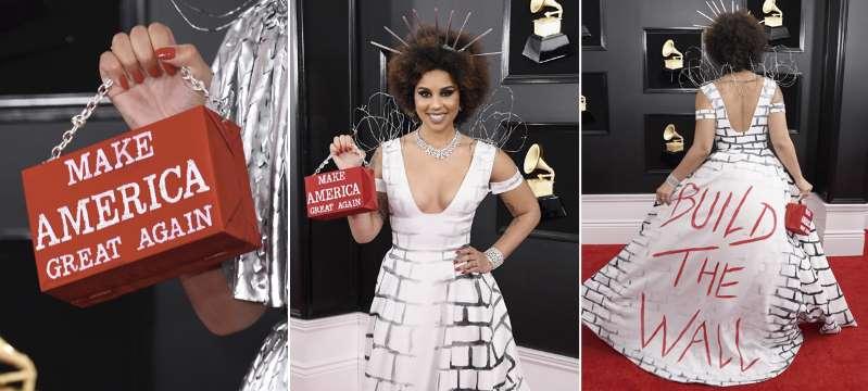 La cantante que se vistió de muro en los Grammy para apoyar a Trump
