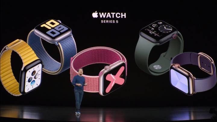 "Apple presenta nuevo modelo de reloj inteligente ""Watch Series 5"""