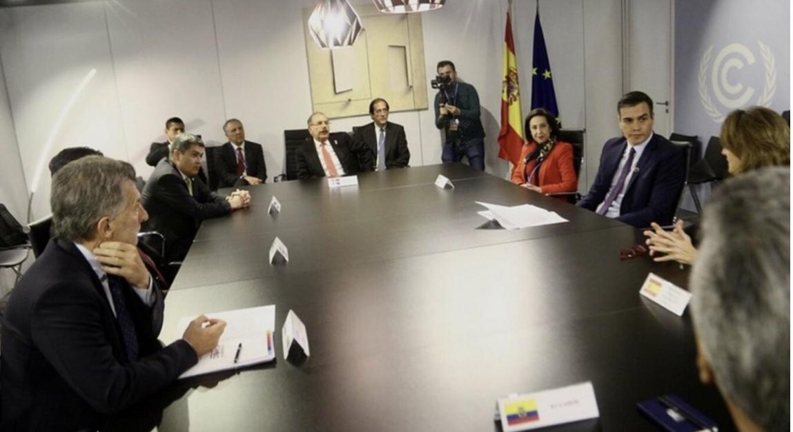 En el marco de la COP 25: Danilo Medina participa en reunión con Pedro Sánchez, junto a homólogos Argentina, Costa Rica, Ecuador y Honduras