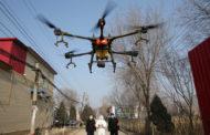 Drones rocían desinfectante en ciudades chinas en medio de la lucha contra el coronavirus