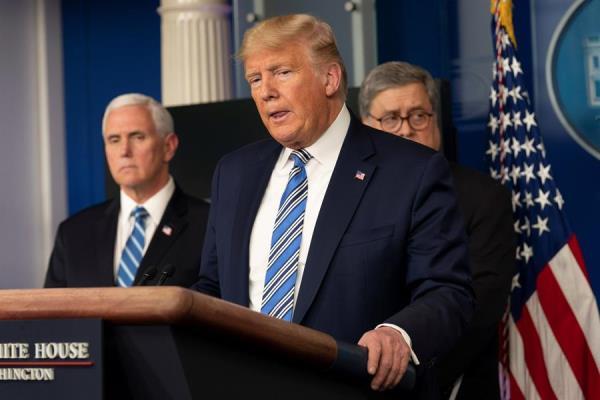 Trump descarta decretar cuarentena nacional en EEUU por coronavirus