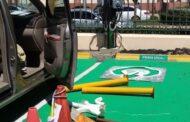 Instalan cargadores para vehículos eléctricos en el Palacio Nacional